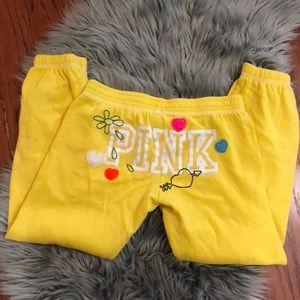 PINK Victoria's Secret Capri Sweat Pants Peace